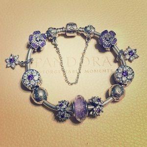 "Pandora ""Lavender Dream"" bracelet"